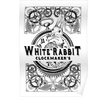 the white rabbit, Alice in Wonderland, clockmaker's, engraving, Poster
