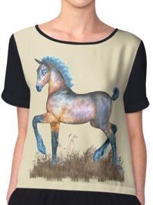 Foal with a spring in his step Chiffon Top