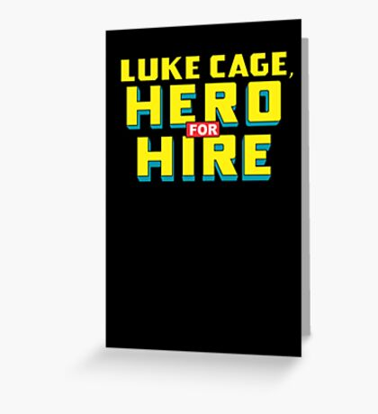 Luke Cage: Hero For Hire - Classic Title - Clean Greeting Card