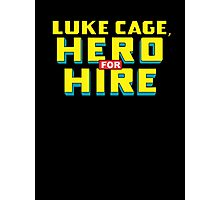 Luke Cage: Hero For Hire - Classic Title - Clean Photographic Print