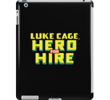 Luke Cage: Hero For Hire - Classic Title - Clean iPad Case/Skin