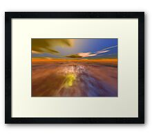 HYPERION WORLD /ALIEN SEASCAPE SKY AND CLOUDS  Sci-Fi Framed Print