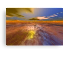 HYPERION WORLD /ALIEN SEASCAPE SKY AND CLOUDS  Sci-Fi Canvas Print