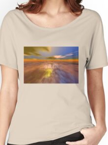 HYPERION WORLD /ALIEN SEASCAPE SKY AND CLOUDS  Sci-Fi Women's Relaxed Fit T-Shirt