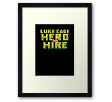 Luke Cage: Hero For Hire - Classic Title - Dirty Framed Print