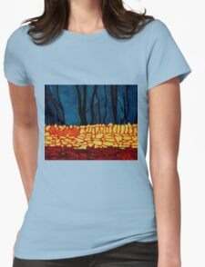 Carrigtwohill Wall, Cork Womens Fitted T-Shirt