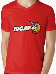 IDGAF Mens V-Neck T-Shirt