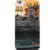 Neptune Fountain - Piazza Navona, Rome, Italy iPhone Case/Skin