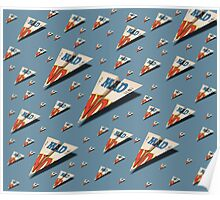 MAD Paper Airplane 147 Pattern Poster