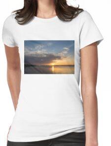 Brilliant Toronto Skyline Sunrise Over Lake Ontario Womens Fitted T-Shirt