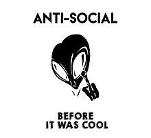 Anti-Social Alien Photographic Print