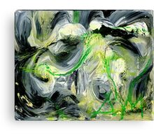 Green Water Cave - Original acrylic painting on Canvas  Canvas Print