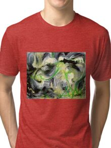 Green Water Cave - Original acrylic painting on Canvas  Tri-blend T-Shirt