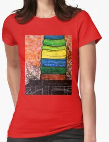 Piled Color Womens Fitted T-Shirt