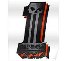 Dark Custom No 1 Harley Davidson colours Poster