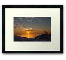 -15 C° Sunrise Framed Print