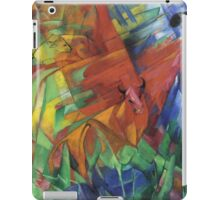 Vintage famous art - Franz Marc - Animals In A Landscape iPad Case/Skin