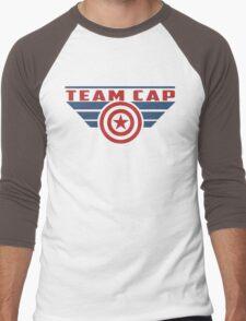 PLEASE SUPPORT TEAM CAP Men's Baseball ¾ T-Shirt