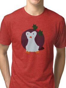 Mistle Toe Penguin Tri-blend T-Shirt