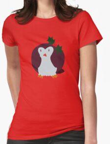 Mistle Toe Penguin Womens Fitted T-Shirt