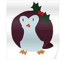 Mistle Toe Penguin Poster