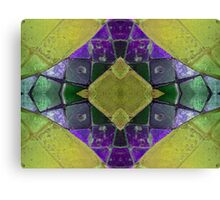 Purple Yellow Abstract Canvas Print
