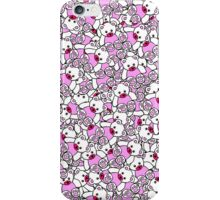 Cute Adorable Pink White Black Teddy Bear Collage iPhone Case/Skin
