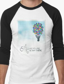 Adventure is Out There Men's Baseball ¾ T-Shirt