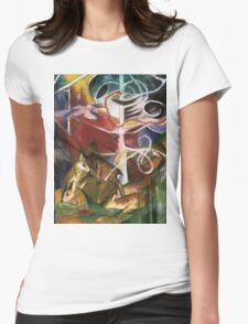 Franz Marc - Deer In The Forest . German Landscape Womens Fitted T-Shirt