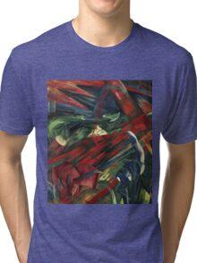 Franz Marc - Animals In A Landscape .German Landscape Tri-blend T-Shirt
