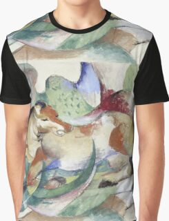 Franz Marc - Jumping Horse -German Landscape Graphic T-Shirt