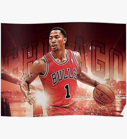 Dark Red Jersey - Pull Back Dribble Poster