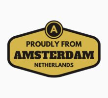 Proudly From Amsterdam Netherlands Kids Tee
