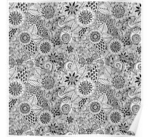 Hand Drawn Floral Pattern Poster