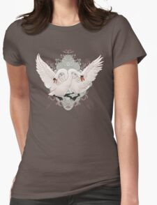 Warring Swans Womens Fitted T-Shirt