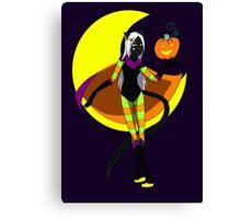 Halloween Magic Cat Canvas Print