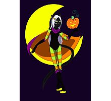 Halloween Magic Cat Photographic Print