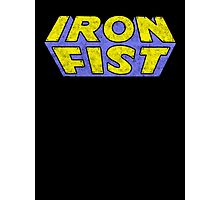 Iron Fist - Classic Title - Dirty Photographic Print