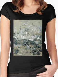 ABSTRACT 2 - Original acrylic painting on Canvas Women's Fitted Scoop T-Shirt
