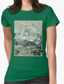 ABSTRACT 2 - Original acrylic painting on Canvas Womens Fitted T-Shirt