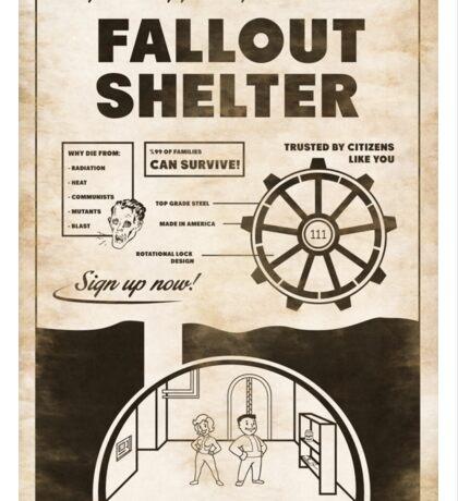Shelter Propaganda Poster Sticker