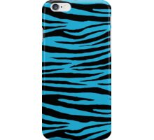 0131 Battery Charged Blue Tiger iPhone Case/Skin