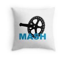 Fixie mash crank Throw Pillow