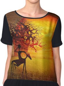 Visions of fire Chiffon Top