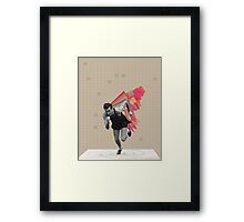 Running Man Framed Print