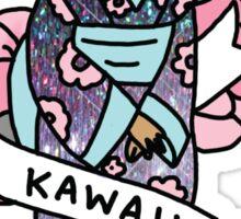 Geisha japan anime kawaii pastel hologram 90s otaku sailor moon print Sticker