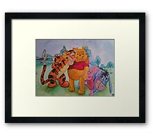 Pooh and friends Framed Print