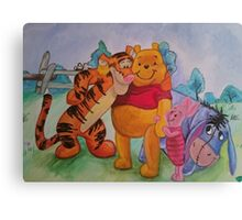 Pooh and friends Canvas Print