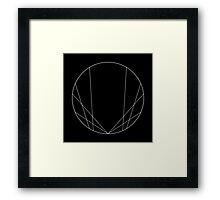 Geometric circle design - White Framed Print