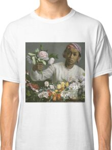 Frederic Bazille - Young Woman With Peonies Classic T-Shirt